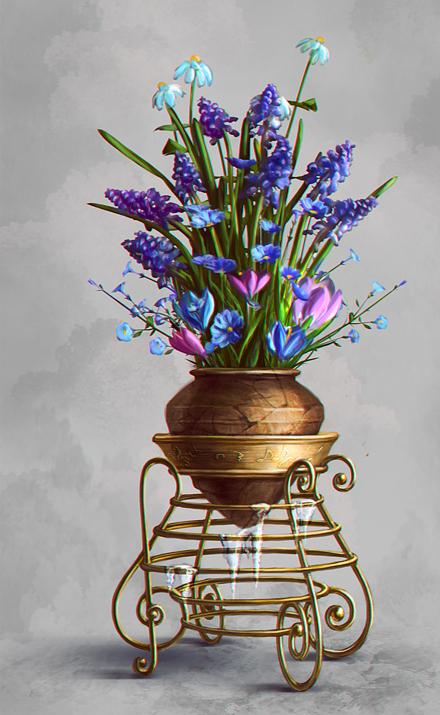 Напольные подставки для цветов в интерьере