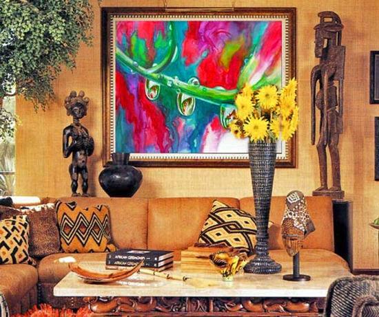Африканский стиль в интерьере: дыхание жаркой страны у вас дома