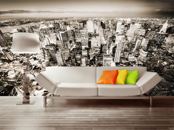 фотообои город фото в интерьере