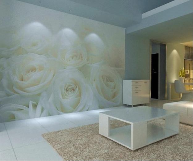 Фотообои с розами в интерьере