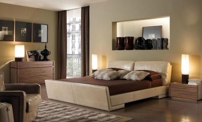 Потолки из гипсокартона в спальне разных стилей
