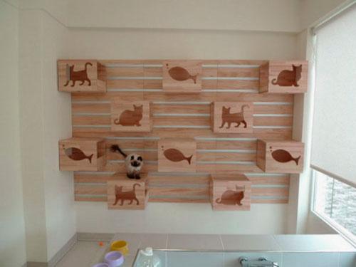 Кошки на стене своими руками