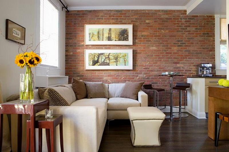 Кирпичная стена в интерьере: эффектная, оригинальная, стильная