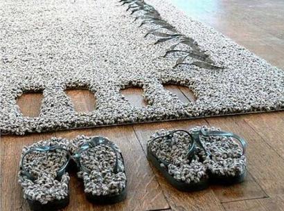 Оригинальные идеи ковров!