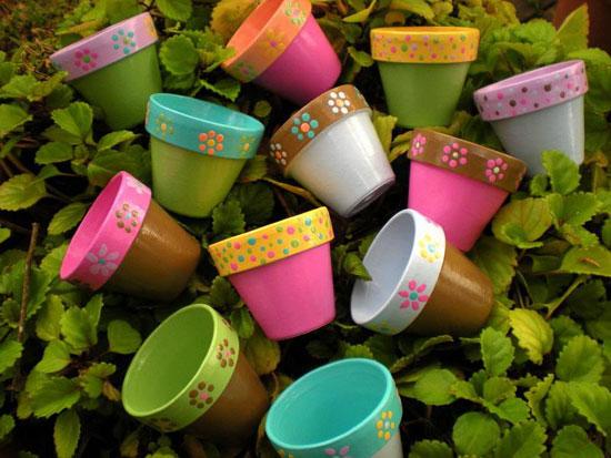 Цветочные горшки своими руками: идеи