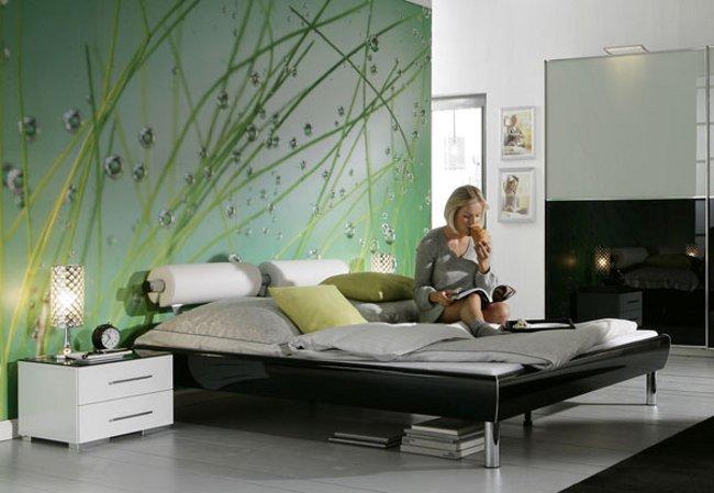 Фотообои для спальни. Необычный дизайн спальни