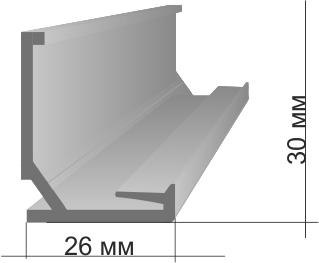 Профиль для натяжных потолков: основные виды