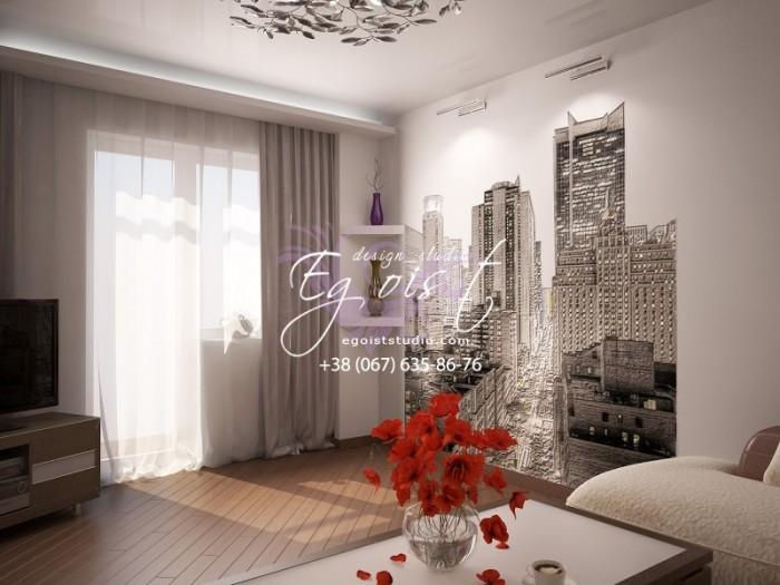 Просторная квартира в современном стиле