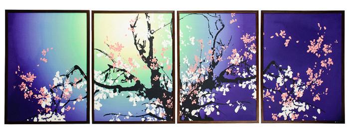 Фотообои: сакура в цвету