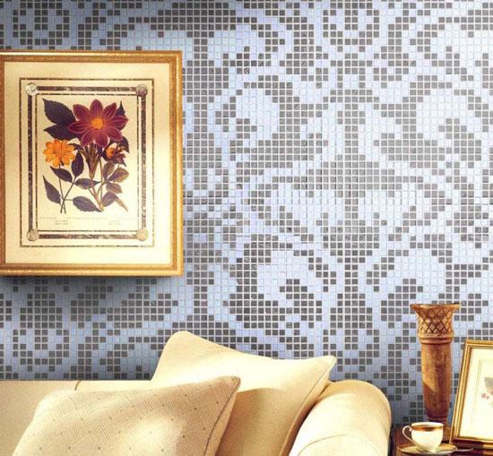 Керамическая плитка в гостиной: варианты использования