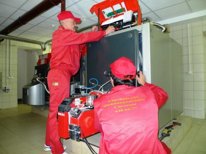 Монтаж и подключение котлов отопления