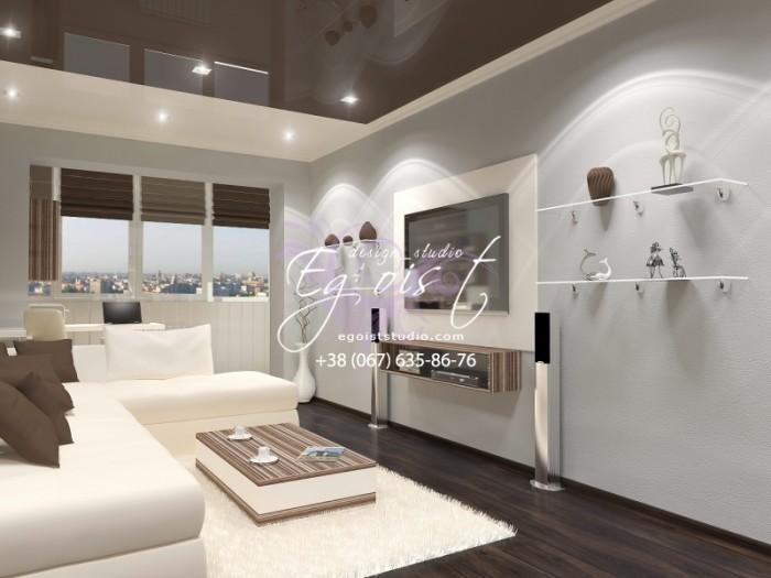 «Шоколадные» фантазии в однокомнатной квартире