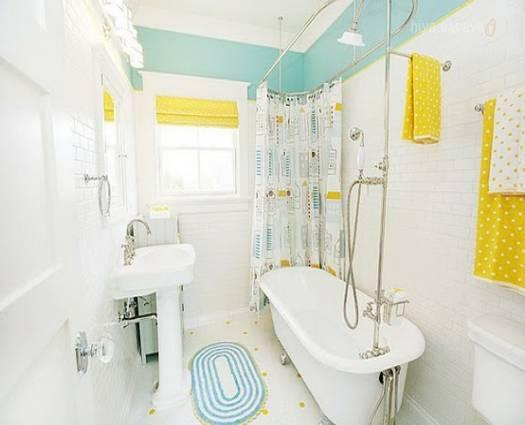 Яркая ванная комната: создаем хорошее настроение
