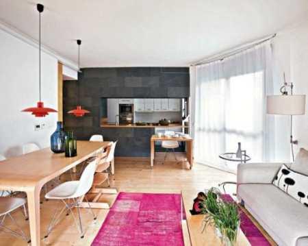 Яркий дизайн кухни-студии в Мадриде: интерьер с испанским темпераментом