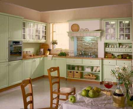 Как передать летнее настроение в интерьере фисташковой кухни: 23 эмоции лета