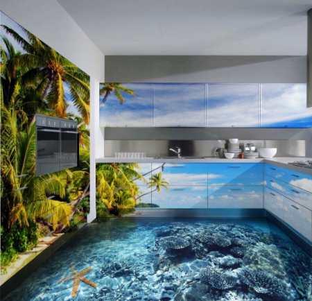 Наливной пол на кухне – жизнь без проблем