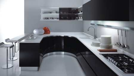 Черная кухня: 25 стильных интерьеров кухни черного цвета