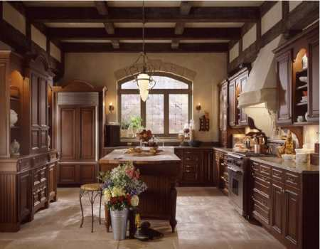 Чопорный дизайн кухни в английском стиле: файв о'клок стайл