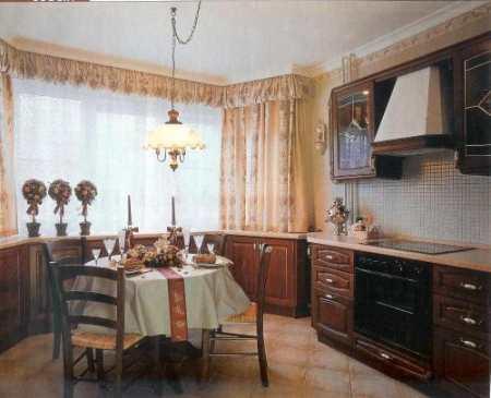 Уютные идеи дизайна кухни с эркером: шторы, банкетки и прочие «конфетки»