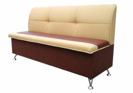 Прямой кухонный диван – мягкий элемент для рабочей зоны