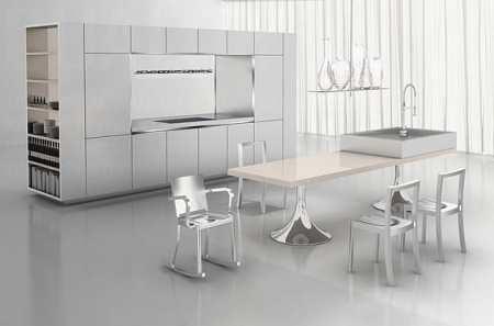 Дизайн кухни в стиле хай-тек: как стильно применить высокие технологии в быту