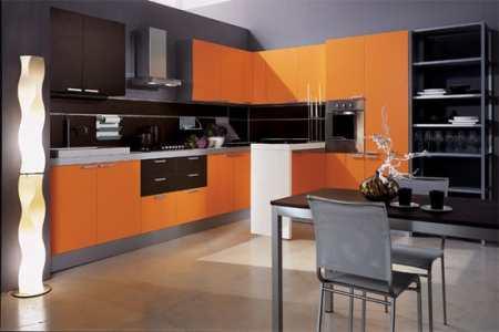 Черно-оранжевая кухня – борьба вкуса или поиск нового