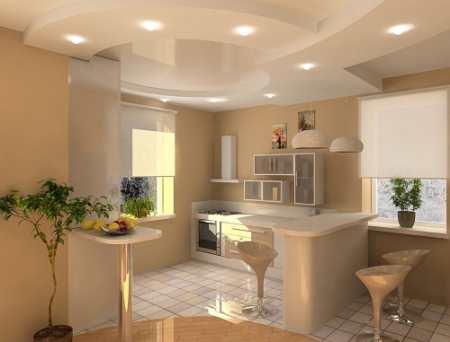 Какой потолок сделать на кухне: подбираем оптимальный вариант