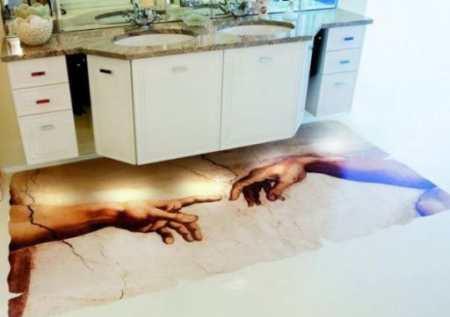 Наливной пол на кухне как удачный элемент декора