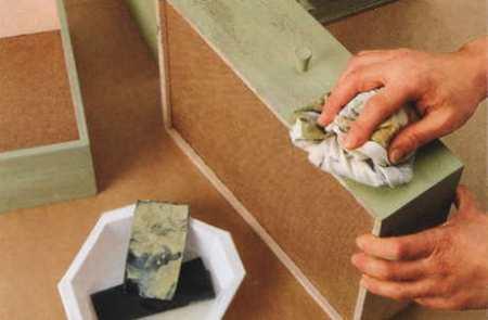 Как покрасить кухонные фасады из дерева своими руками 179