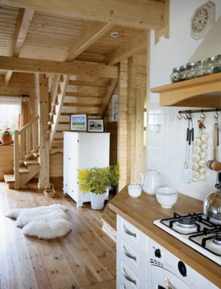 Кухня гостиная с камином: пример интерьера для творческих натур Оформление интерьеров
