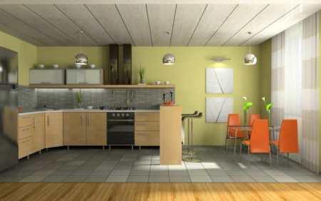 Оранжево-зеленая кухня: особенности дизайна и практической реализации