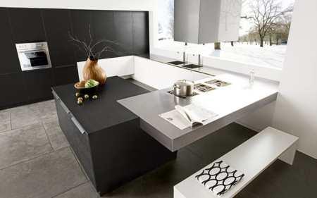 Черно-белая кухня – дань моде или универсальный вариант дизайна