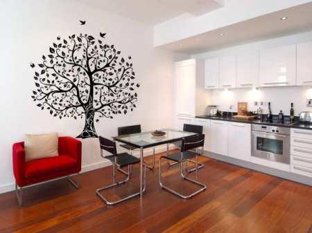 Рисунок на стене на кухне: способы нанесения изображения