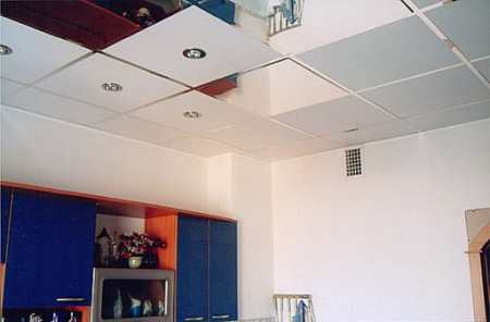 Как выбрать подвесные потолки для кухни: типы навесных конструкций