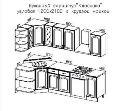 Угловые кухонные гарнитуры для
