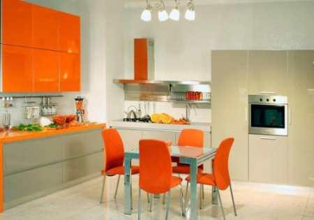 Оранжевые стулья для кухни. Рассуждения об оттенках кухонного интерьера