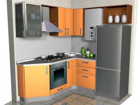 Создаём интерьер малогабаритной кухни в хрущевке