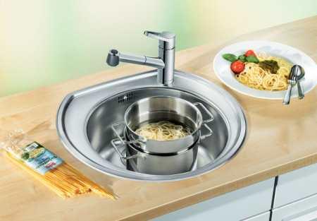Круглая мойка для кухни: многофункциональность и эргономичность
