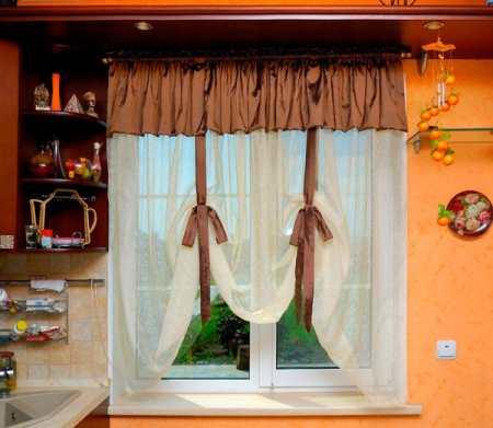 Кухонные шторы в современном интерьере