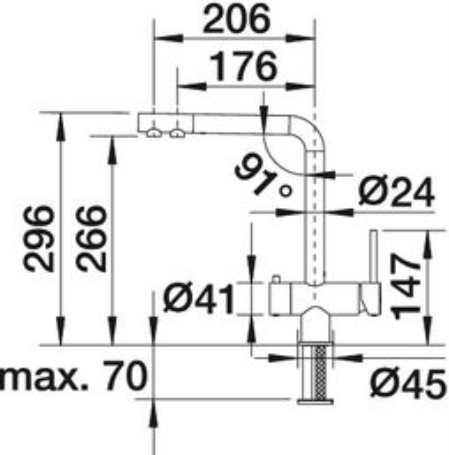 Современные смесители с двумя изливами для кухни: разделение питьевой и технической воды