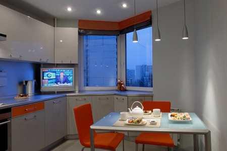 Оригинальный дизайн кухни П 44Т с эркером – важные моменты декора