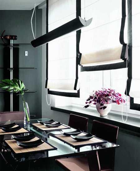 Шторы на кухню на окно:красота и практичность