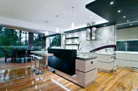 Современный дизайн кухни в стиле роскошного минимализма