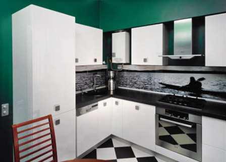 Маленькие кухни с газовой колонкой – кухни с проблемным размещением мебели