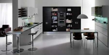 Черно белая кухня: 30 каллиграфически четких интерьеров в ахроматической гамме