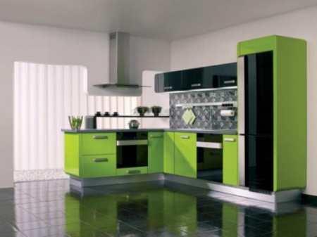 Варианты дизайна салатовой кухни: 22 освежающих интерьера