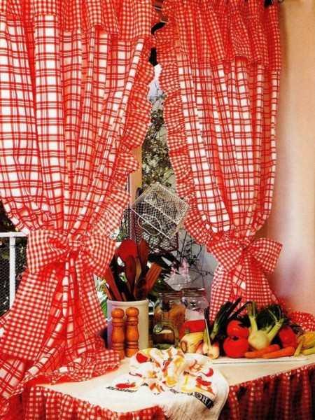 Выкройки штор для кухни - оригинально и просто