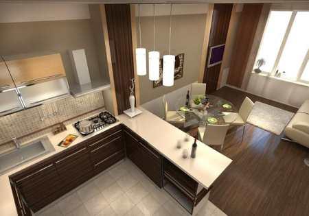 Кухня совмещенная с залом - основные моменты