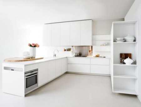 Slim Kitchen: стройная белая кухня от Elmar