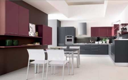 33 лиловых настроения в интерьере фиолетовой и сиреневой кухни